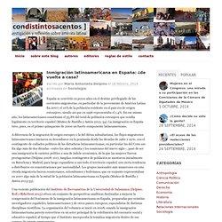 Inmigración latinoamericana en España: ¿de vuelta a casa?