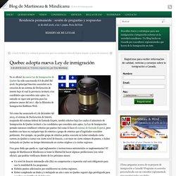 Quebec adopta nueva Ley de inmigración