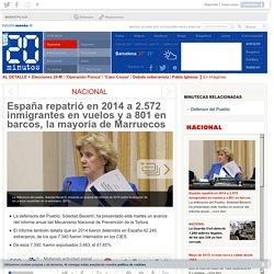 España repatrió en 2014 a 2.572 inmigrantes en vuelos y a 801 en barcos, la mayoría de Marruecos