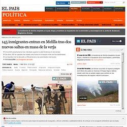 145 inmigrantes entran en Melilla tras dos nuevos saltos en masa de la verja