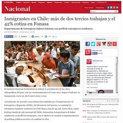Inmigrantes en Chile: más de dos tercios trabajan y el 42% cotiza en Fonasa