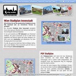 Wien Stadtplan Innenstadt PDF mit Sehenswürdigkeiten