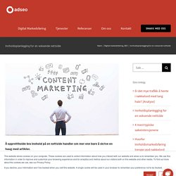 Content marketing planning for a fast growing website
