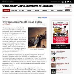 Why Innocent People Plead Guilty by Jed S. Rakoff