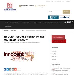 Innocent Spouse Relief - What You Need to Know