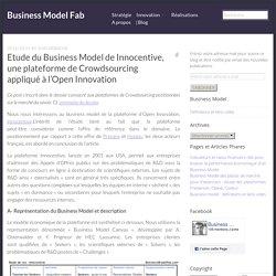 Etude du Business Model de Innocentive, une plateforme de Crowdsourcing appliqué à l'Open Innovation – Business Model Fab