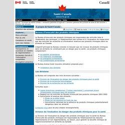 Bureau d'innocuité des produits chimiques - Direction générale des produits de santé et des aliments
