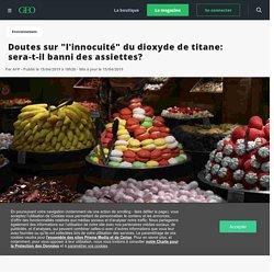 """Doutes sur """"l'inocuité"""" du dioxyde de titane: sera-t-il banni des assiettes? - Geo"""