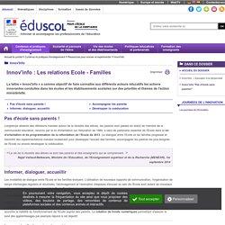 """Innov'Info - Innov'info """"Pas d'école sans parents!"""""""