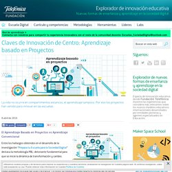 Claves de Innovación de Centro: Aprendizaje basado en Proyectos - Explorador de innovación educativa - Fundación Telefónica