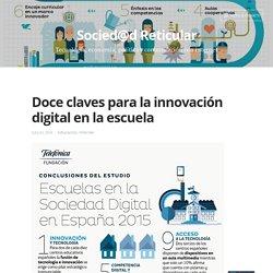 Doce claves para la innovación digital en la escuela – Socied@d Reticular