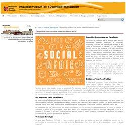 Innovación y Apoyo Téc. a Docencia e Investigación » Ejemplos del buen uso de las redes sociales en el aula