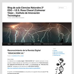 Blog de aula Ciencias Naturales 2º ESO – I.E.S. Rosa Chacel (Colmenar Viejo) – Instituto de Innovación Tecnológica