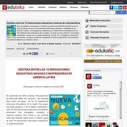 entre las 10 innovaciones educativas masivas de Latinoamérica