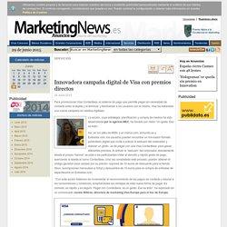 Innovadora campaña digital de Visa con premios directos - Noticia - Servicios