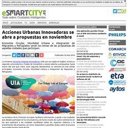 Acciones Urbanas Innovadoras se abre a propuestas en noviembre