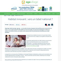 Habitat innovant : vers un label national ? - 20/03/17