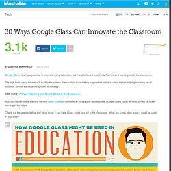 30 Ways Google Glass Can Innovate the Classroom [INFOGRAPHIC]