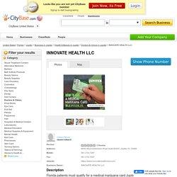 INNOVATE HEALTH LLC - Top Medical Marijuana Services in Jupiter