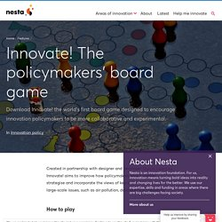 Innovate! The policymakers' board game