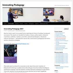 Innovating Pedagogy | Open University Innovations Report #1