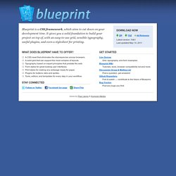 Blueprint: A CSS Framework | Spend your time innovating, not rep