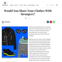 Sharewear Innovating Sustainable Fashion