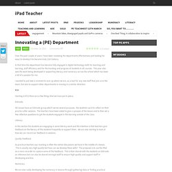 Innovating a (PE) Department