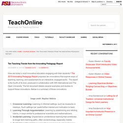 Ten Teaching Trends from the Innovating Pedagogy Report - TeachOnline