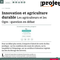 Innovation et agriculture durable