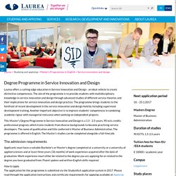 Service Innovation and Design [MBA] - Laurea-ammattikorkeakoulu