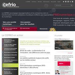 CEFRIO - Recherche et innovation en appropriation du numérique