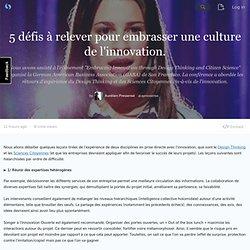 5 défis à relever pour embrasser une culture de l'innovation. (avec image) · apressense