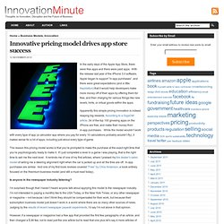 Innovation Minute » Blog Archive » Innovative pricing model drives app store success