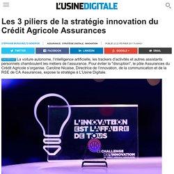 Les 3 piliers de la stratégie innovation du Crédit Agricole Assurances