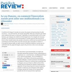 Innovation sociale: le cas Danone - Bénédicte Faivre-Tavignot