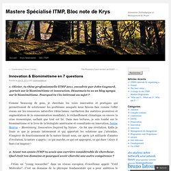 Innovation & Biomimétisme en 7 questions