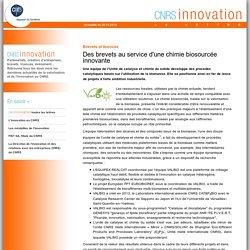 CNRS Innovation - Des brevets au service d'une chimie biosourcée innovante