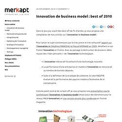 Innovation de business model : best of 2010
