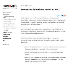 Innovation de business model en PACA