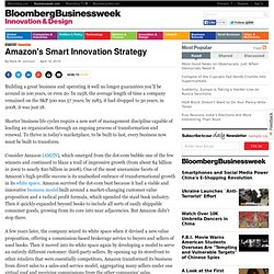 amazon smart innovation strategy Innovation by design amazon's echo smart speaker rose on the lot where its bezos's strategy of continuous evolution has allowed the company to experiment.