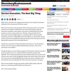 Service Innovation: The Next Big Thing