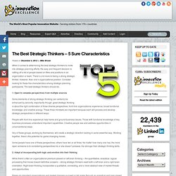 The Best Strategic Thinkers – 5 Sure Characteristics