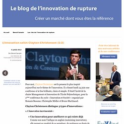 L'innovation selon Clayton Christensen (1/2)