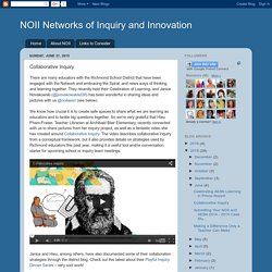 NOII Networks of Inquiry and Innovation: Collaborative Inquiry