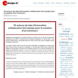 70 acteurs de labs d'innovation collaborative font équipe pour la création d'un Commun ! – Codesign-it!
