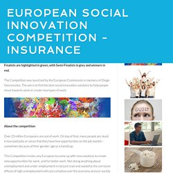 Social Innovation Competition / European Social Innovation Competition - Insurance