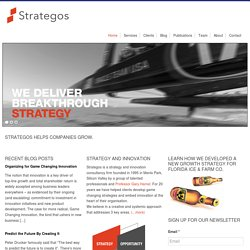 Strategos - Helping Companies Innovate and Grow