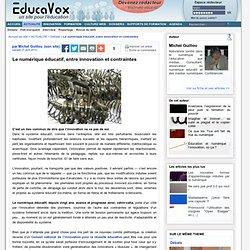 Le numérique éducatif, entre innovation et contraintes