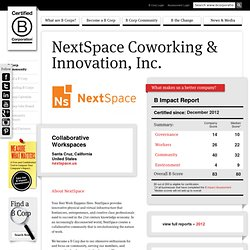 NextSpace Coworking & Innovation, Inc.